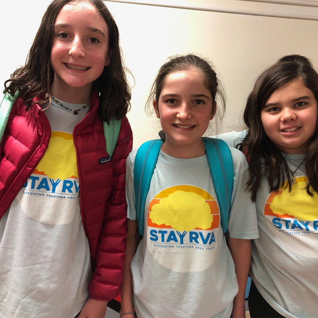 Binford students rockin' their STAY RVA shirts